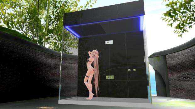 【配布あり】設置型レインシャワールーム