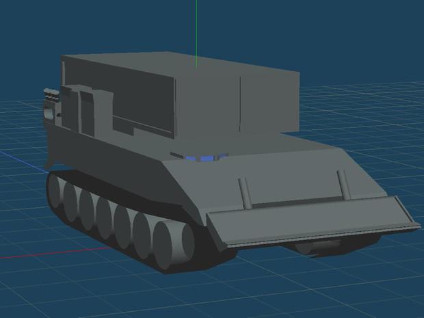 92式地雷原処理車の作業工程1