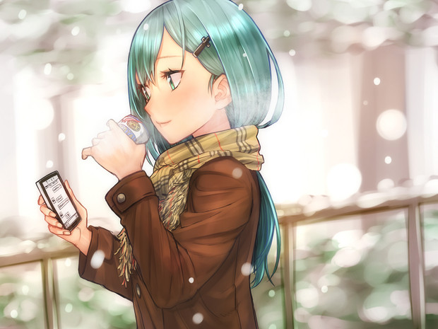 鈴谷の寒い冬