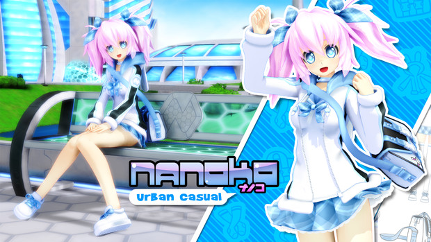 Nanoko アーバンカジュアルMMDモデル