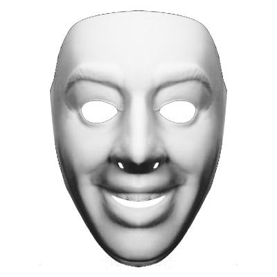 シンメトリー怪人マスク.透過PNG