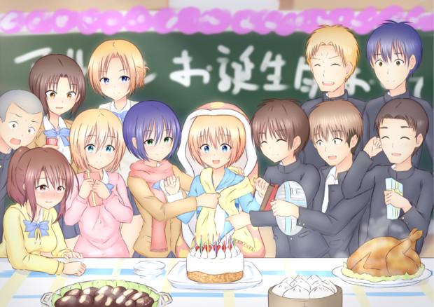 みんなで一緒にアルミンお誕生日おめでとう!