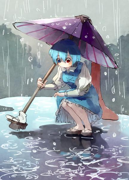 水たまりと小傘 くっくる さんのイラスト ニコニコ静画 イラスト