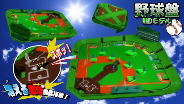 【MMD】野球盤モデル【配布】