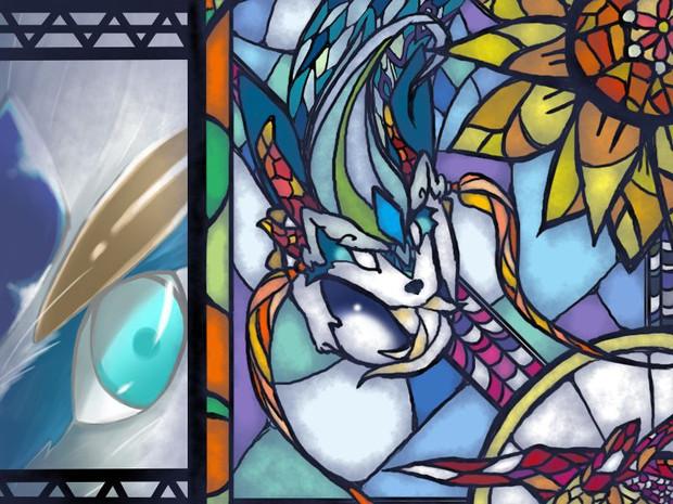 ステンドグラス風でシャオルーン 青林檎 さんのイラスト ニコニコ静