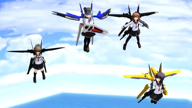 【MMD】第六航空駆逐隊 試験飛行