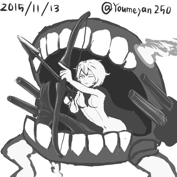 弓を引くマーメイド - ニコニコ静画 (イラスト)