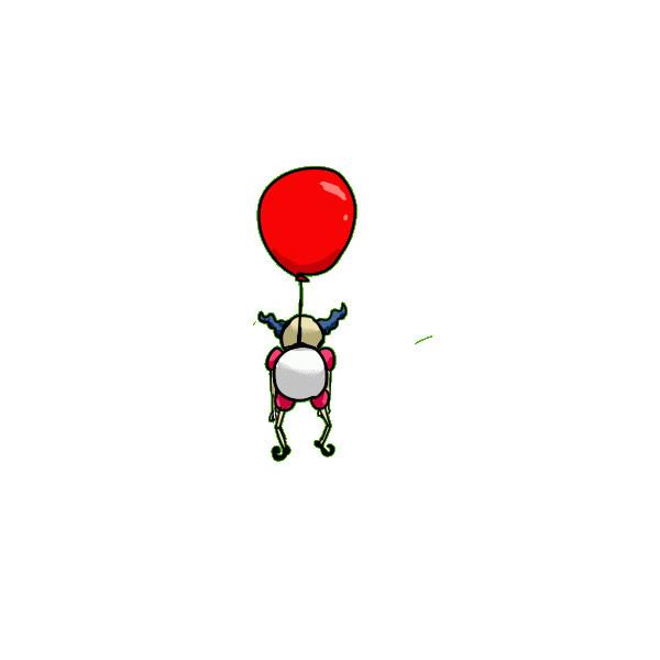 回る風船おじさんgif