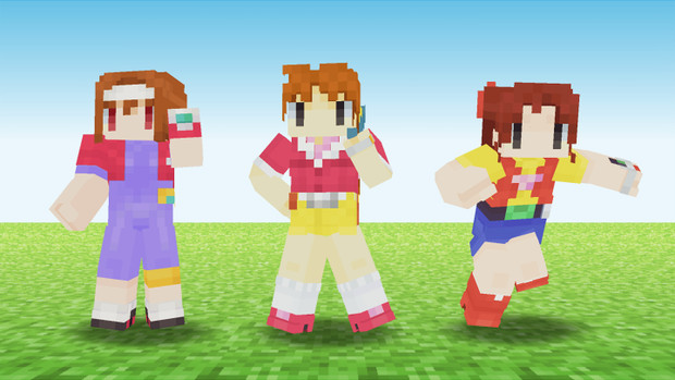 【Minecraftスキン】バーチャル3部作