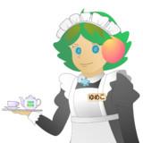 JR8DAGのAM & QRP ホームページ 公式イメージキャラクター ゆめこ(秋葉原メイド風)