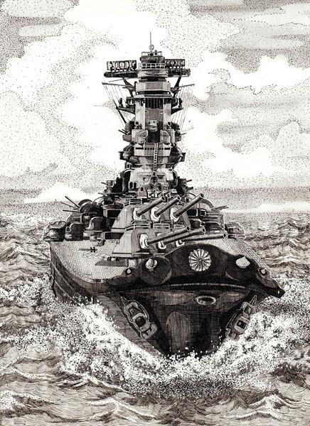 イラストで描かれた戦艦大和