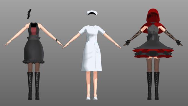 【MMD】女性用衣装配布