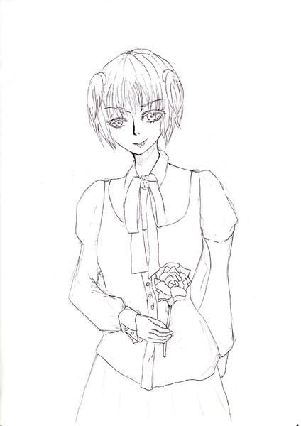 【白黒】弦巻さんの私利私欲craftよりプレッカさん【アナログ】