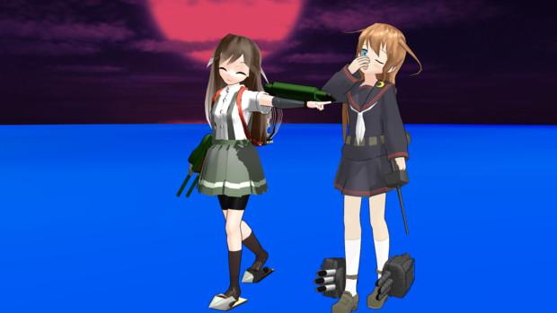 【MMD艦これ】デストロイヤーVS異能【暁型四姉妹の日常&響提督の日常】