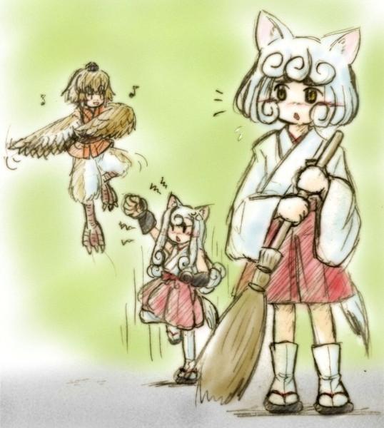 狛犬姉弟と伝書雀
