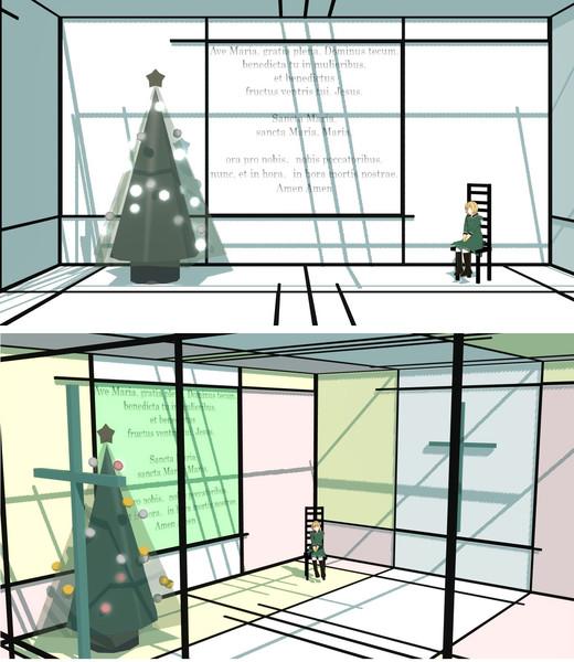 クリスマスツリーの部屋【配布終了】