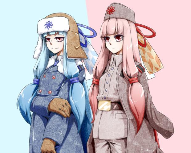 軍服姉妹の立ち絵描いた