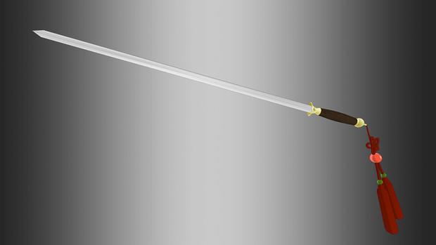 【MMD】中華っぽい刀【アクセサリ配布】