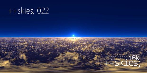 ++skies; 022 [16k8k/8k4kスカイドーム素材配布]