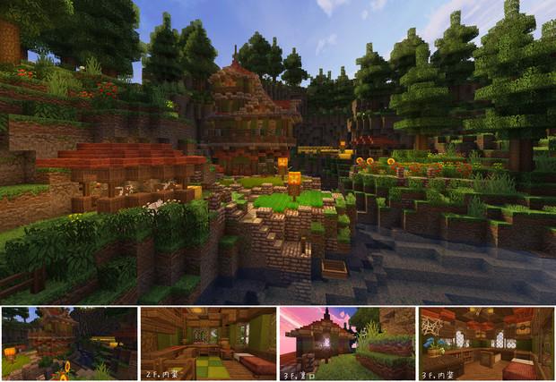 【Minecraft】こんな家に住んでみたい3(森の家)