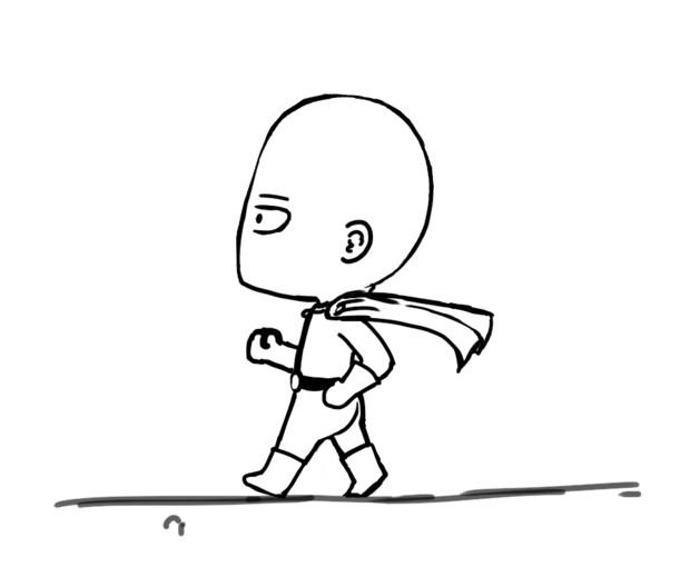 走ってるだけ【GIF】