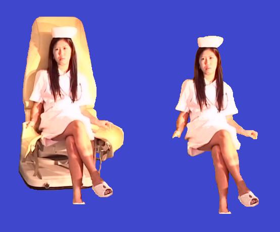座るピンキー(イス有り版&無し版)BB