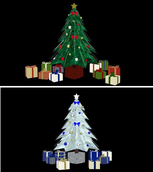 クリスマスツリーとギフトボックス【MMDアクセサリー配布】
