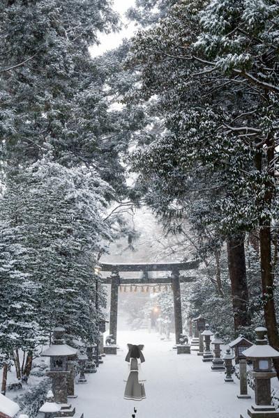 積雪の鹽竈神社 Megaten666 さんのイラスト ニコニコ静画 イラスト