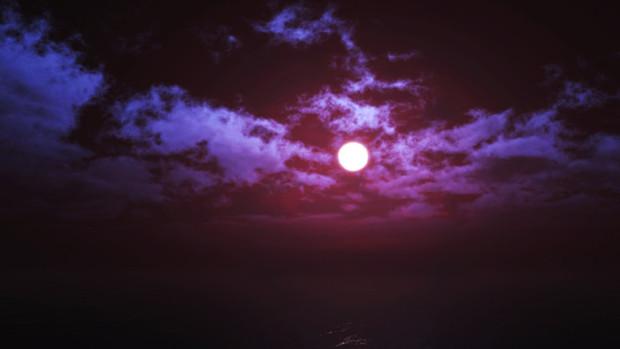 【MMDステージ配布】赤い霧の夜 JJ1【スカイドーム】