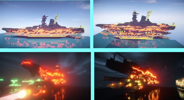 【マインクラフト】蒼き鋼のアルペジオ 総旗艦 超戦艦ムサシ
