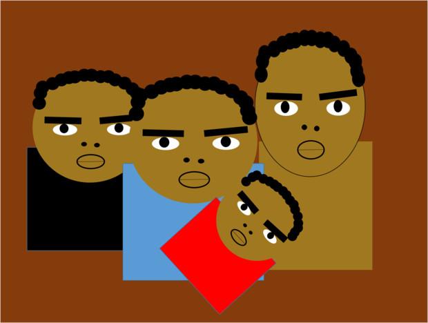 アフリカ募金の広告写真でありがちな表情