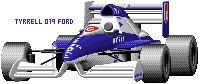 ティレル019・フォードコスワースDFR(ドット絵)