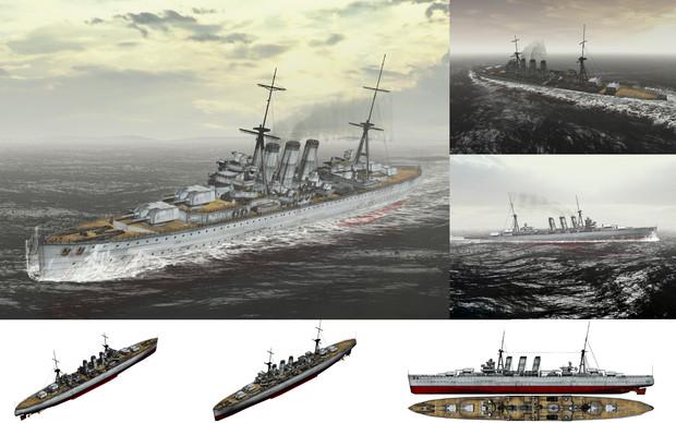 MMD用モブ重巡洋艦1930セット