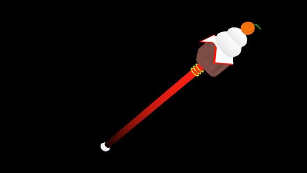 鏡餅の杖【MMDモデル配布】