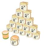 酒樽(化粧菰付き)