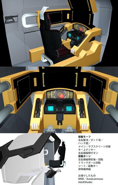 【MMDギアス】Z-01ランスロットコクピット