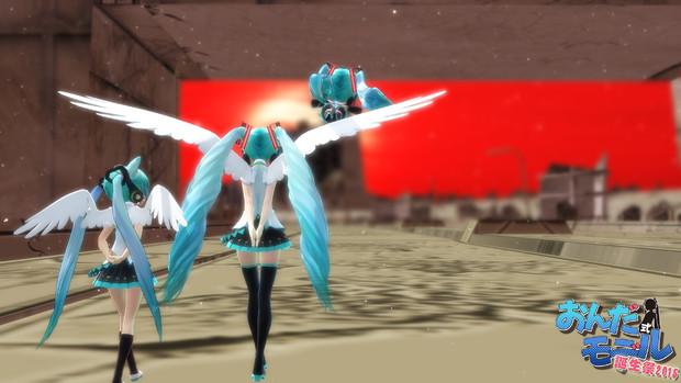 廃墟に天使