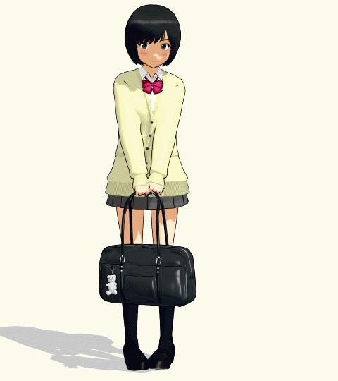 【MMD】女の子の撮影モーション(バッグ持ってポーズ編)