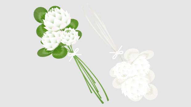 シロツメクサの花束 Azyazya さんのイラスト ニコニコ静画 イラスト
