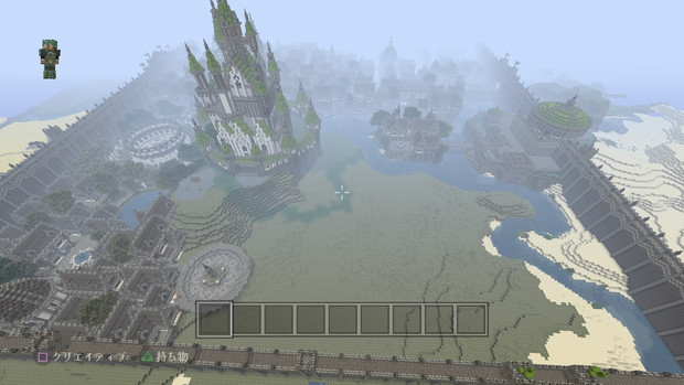 【Minecraft】PS4で街作り中!!!  全体図3.5