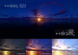 ++skies; 023 [16k8k/8k4kスカイドーム素材配布]