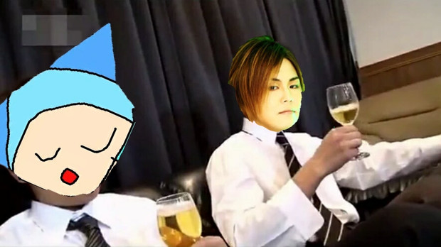 とねXと酒を飲む鋼兵