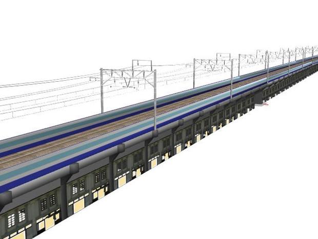 RS高架下商店街複線のMMD鉄道対応化工事