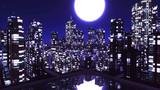 【MMDステージ配布】ナイトシティ MM4【AL対応スカイドーム】