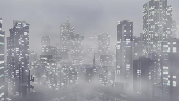 【MMDステージ配布】フォギーシティ NN1【AL対応スカイドーム】