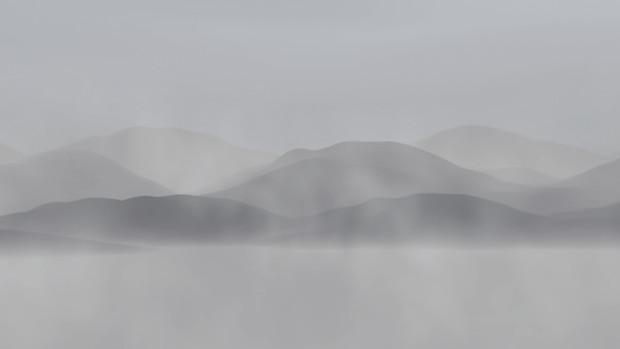 【MMDステージ配布】霧の山並 NN2【スカイドーム】