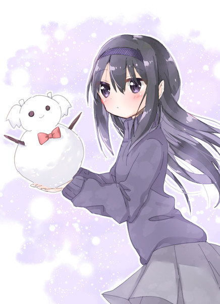 まど雪だるまほむ