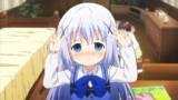 【GIF】チノちゃんがジト目ダブルピースでぴょんぴょんするgif