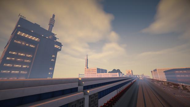 【Minecraft】八白警察署とL0系。