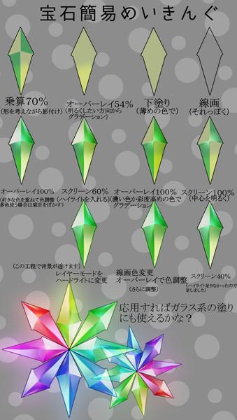 宝石系の塗り方簡易 東雲 波尽希 さんのイラスト ニコニコ静画